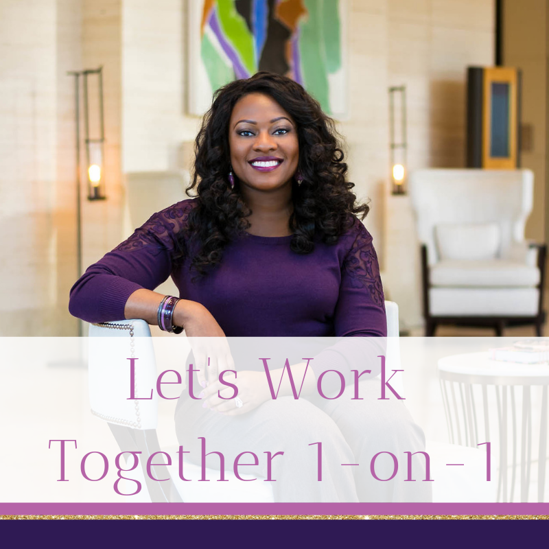 Ready to take your career advancement into your own hands, but need personalized support and guidance? Let's work together 1-on-1.