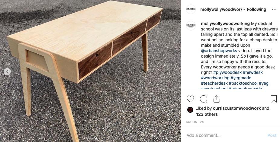 Midcentury Modern Plywood Desk Urban Shop Works