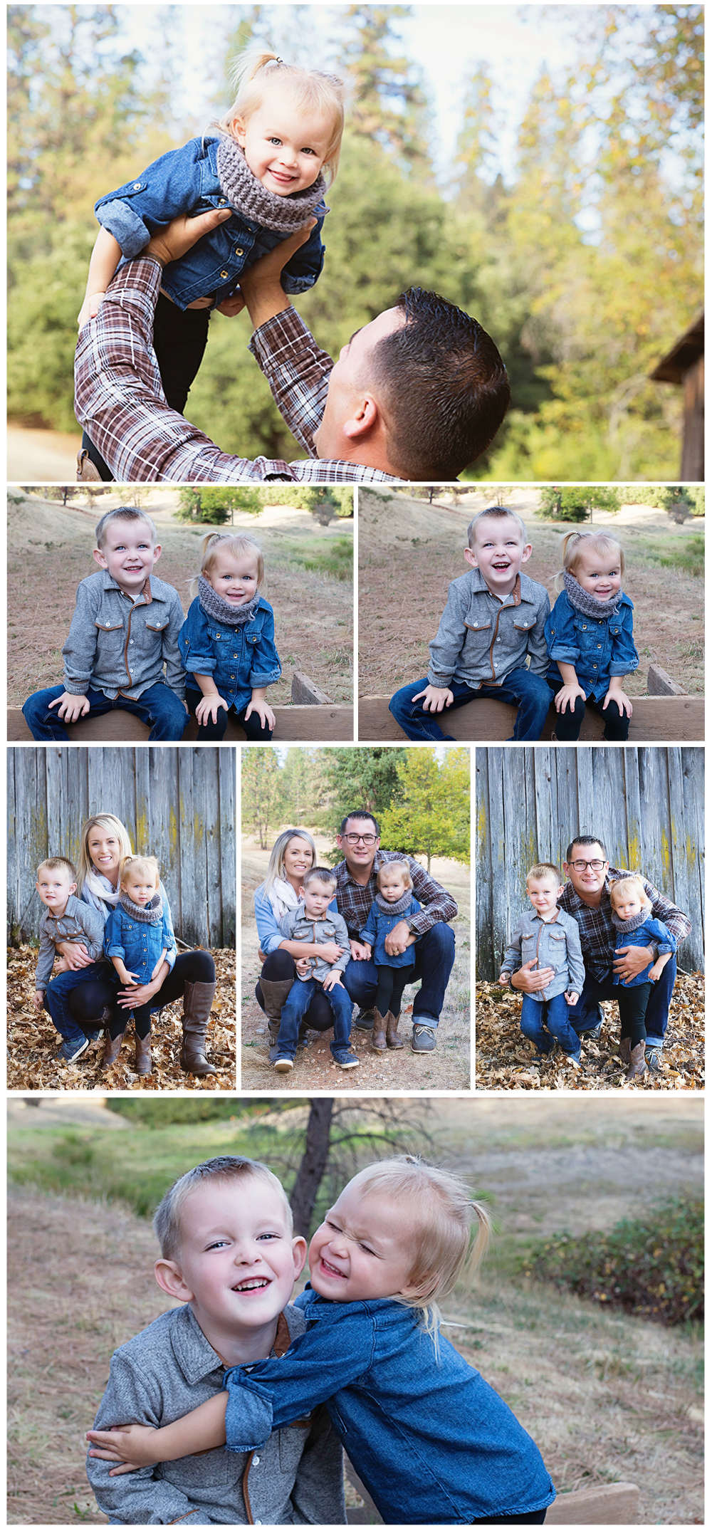 A fun photo session with this family of four!