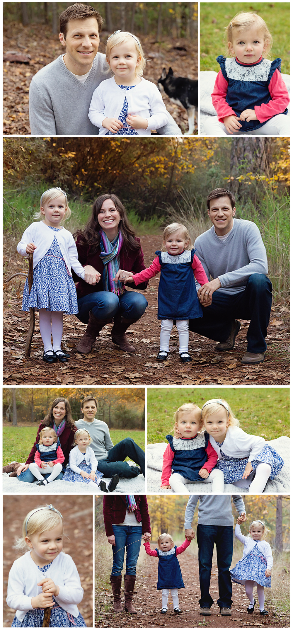 Such an adorable family of four!