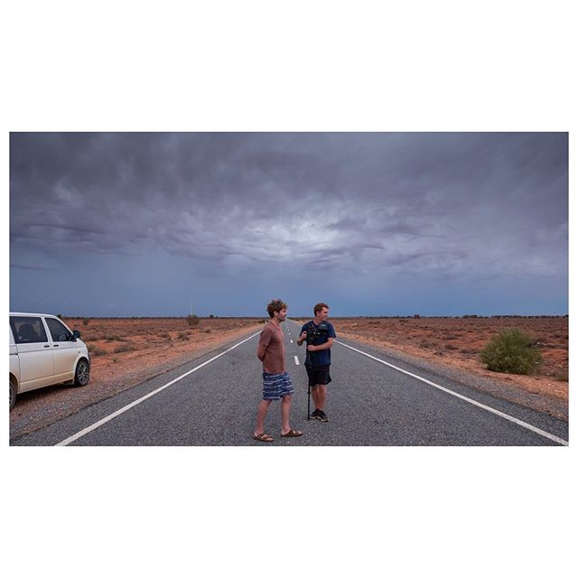 Grey skies/Red dirt. Optimal shooting conditions - somewhere between Wilcannia and Broken Hill on my most recent doco shoot with Director and good mate Darius Devas. Little break in Yamba for the week then back to Sydney to start lining up some more projects for the year.  #directorofphotography #documentary #australia