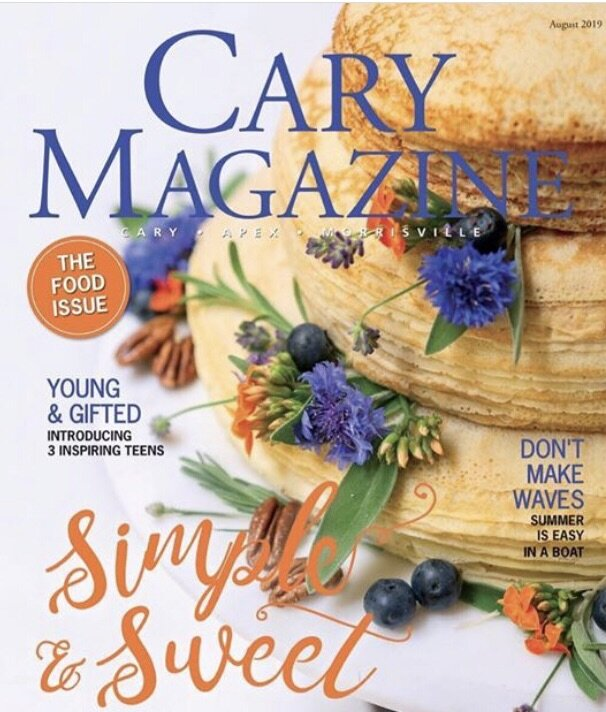 """Winner of Cary Magazine's  2nd Annual FOOD FIGHT FOR """"BEST COVER"""" - Sponsored by Wake County Magnet Schools Photographer: Jonathan Fredin 