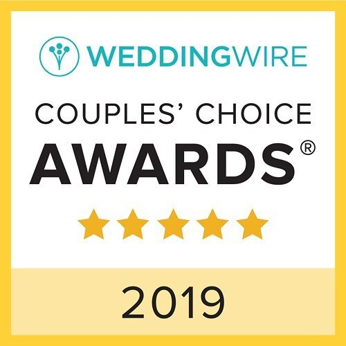 Wedding Wire  2019 Couples' Choice Award - Demonstrating excellence in quality, service, responsiveness, and professionalism.