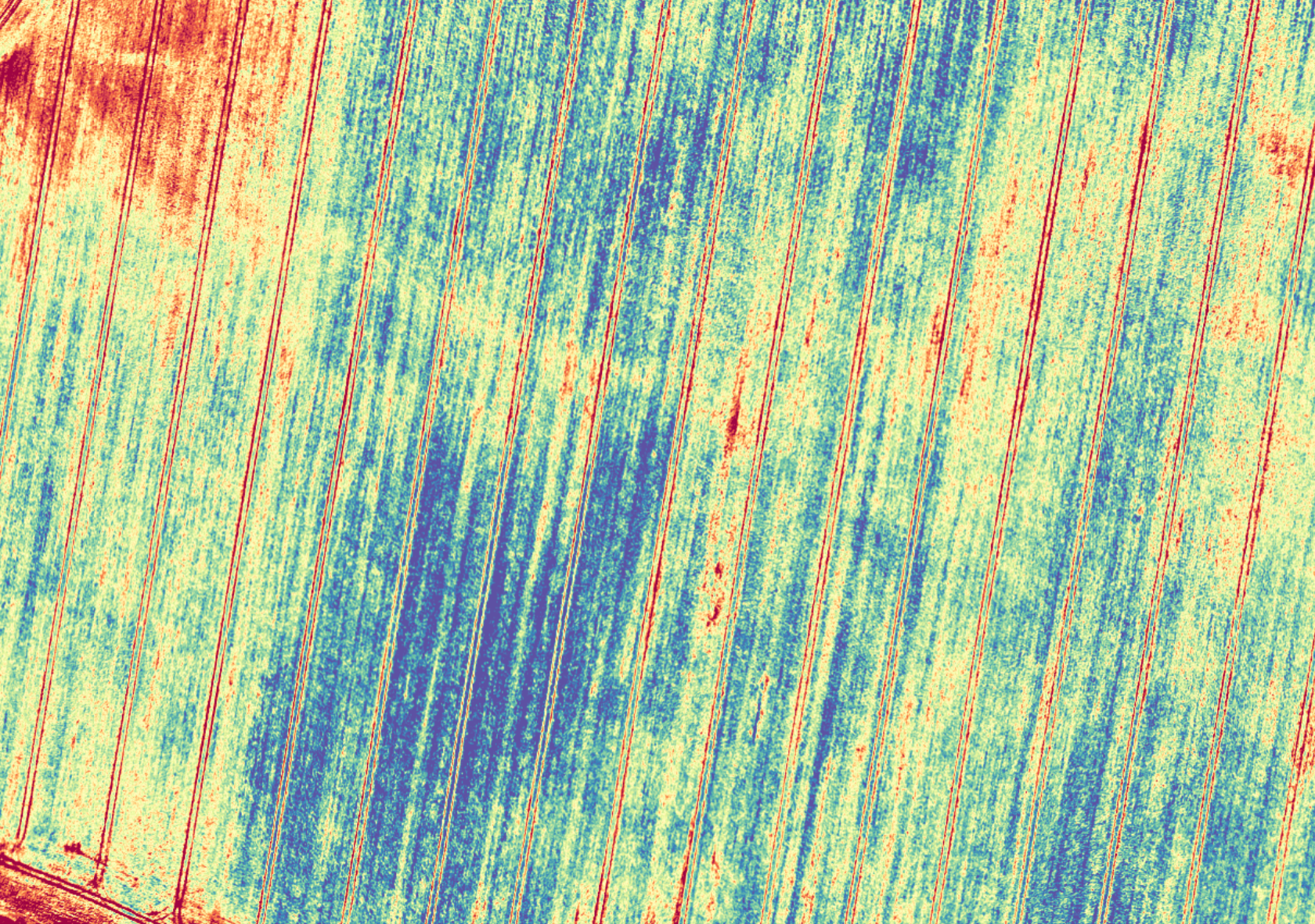 Hyperspectral camera image of crops