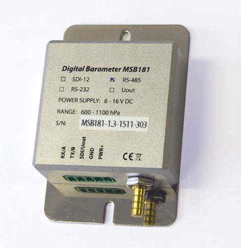 Atmospheric pressure sensor MSB181 with terminal block removed