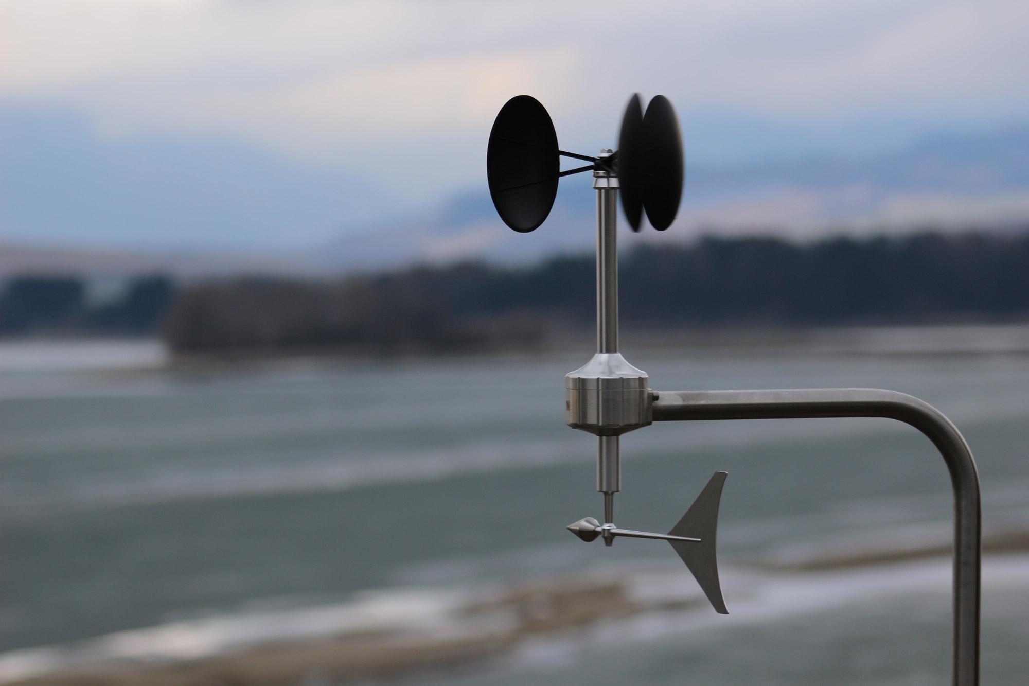Anemometer on a lake