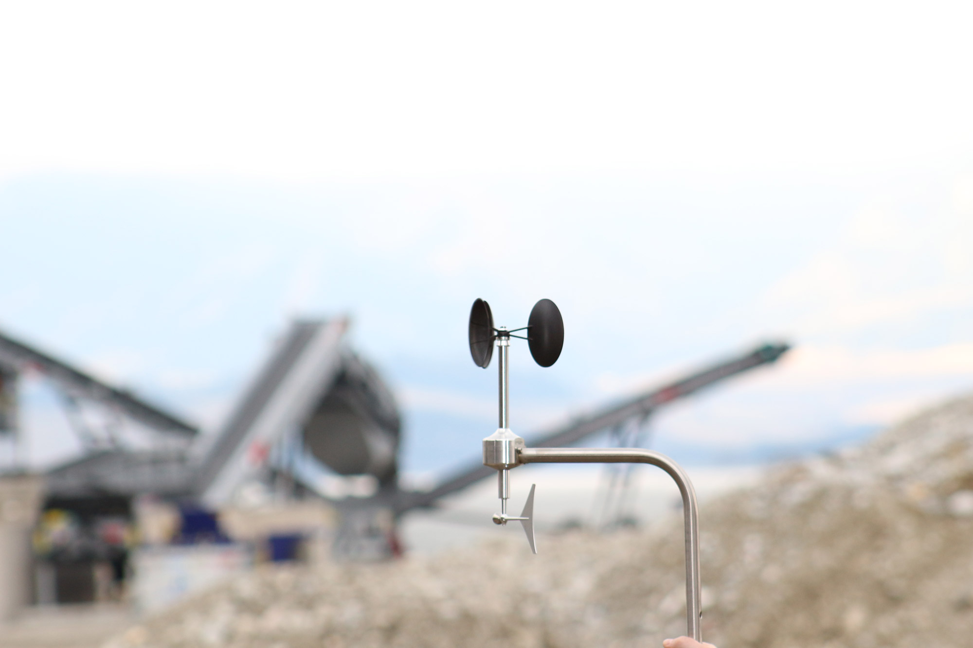 Anemometer in an industrial plant