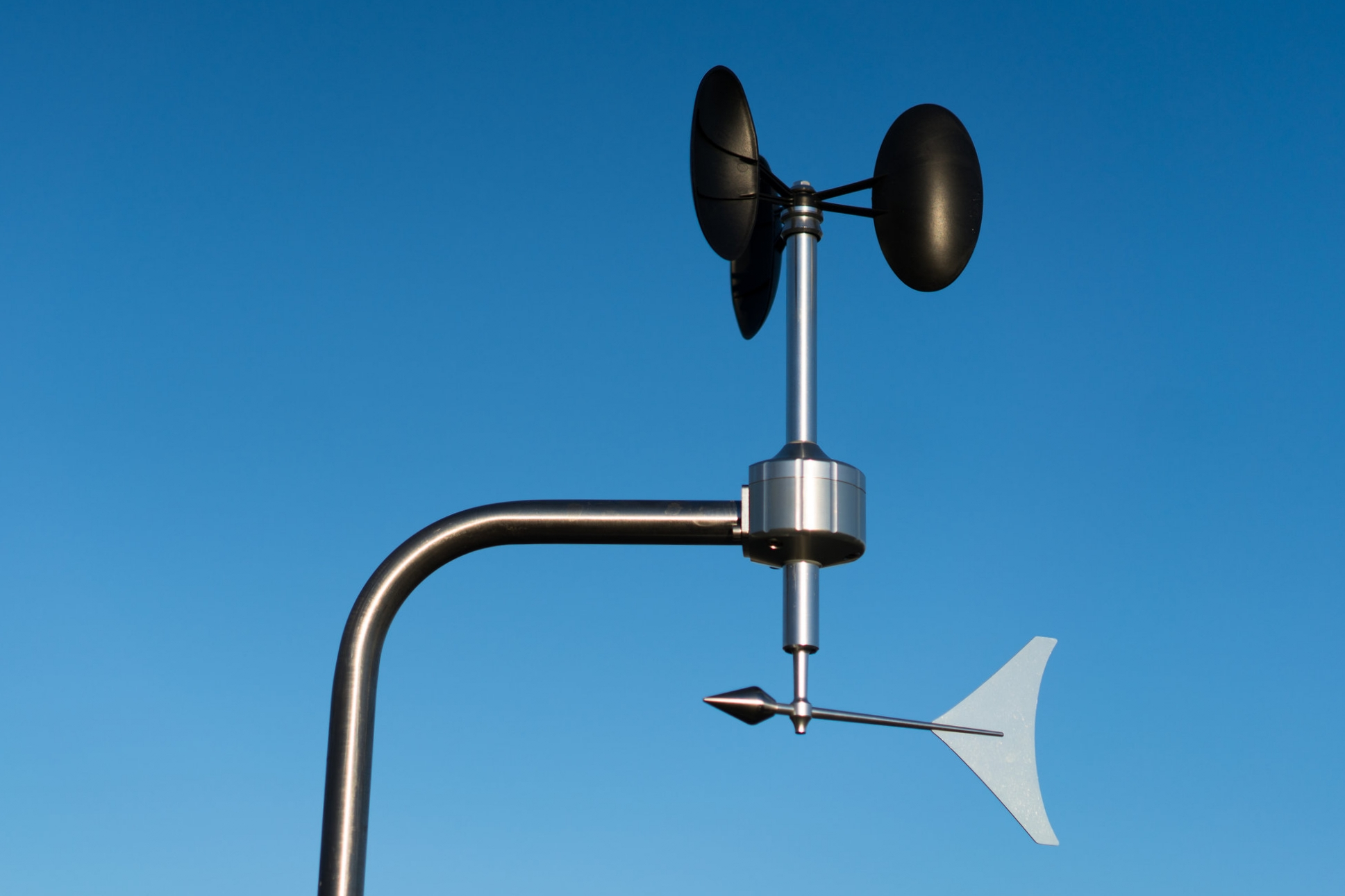 MeteoWind 2 anemometer blue sky background