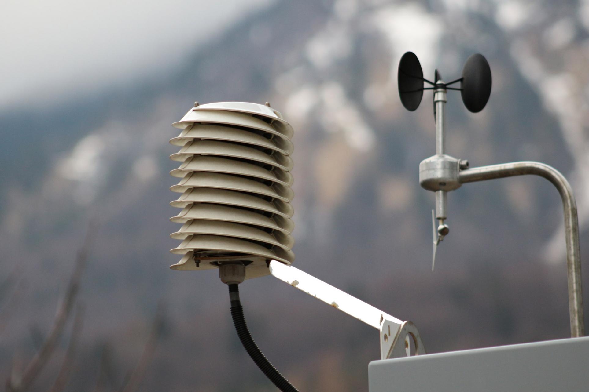Road weather station radiation shield & anemometer Barani Design