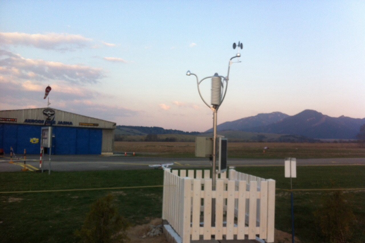 AWS wireless weather station at International airport Aerodrome Jasna, Slovakia. ICAO code: LZJS http://www.letisko-jasna.sk/en/