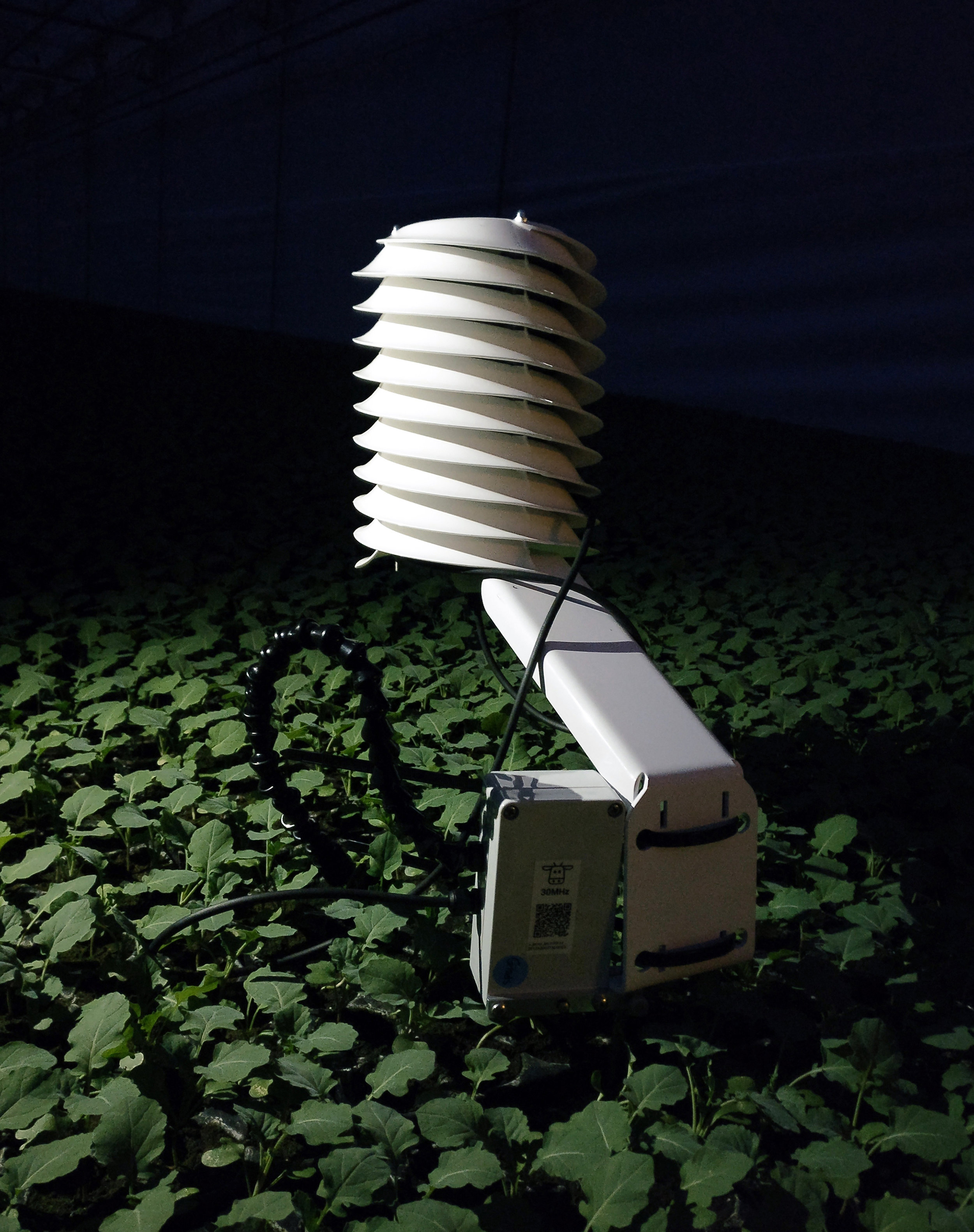MeteoSHield Professional in testing as part of 30MHz HQ Precision Agro sensor solution