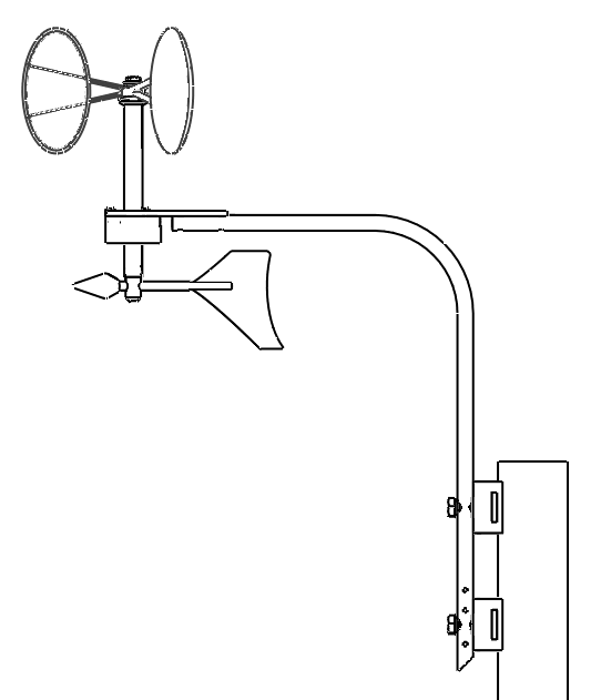 MeteoWind Compact ANALOG OUTPUT Anemometer with a Wind Vane