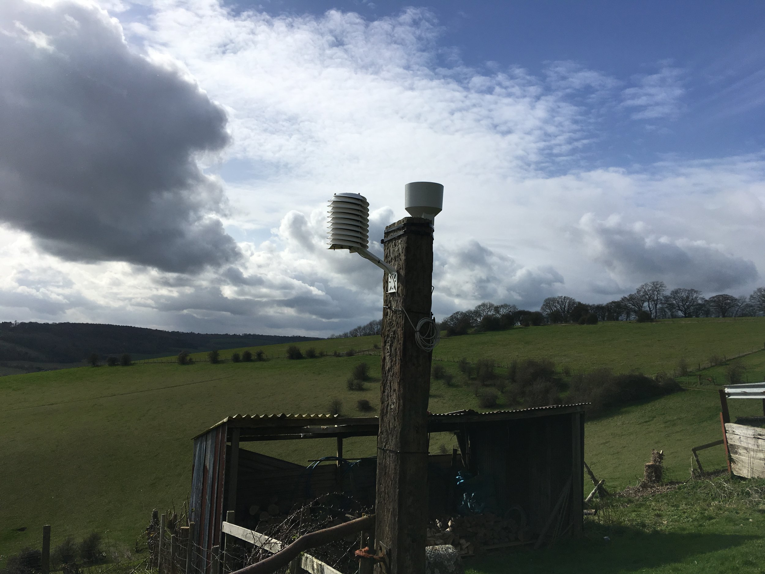 Agricultural weather station for livestock
