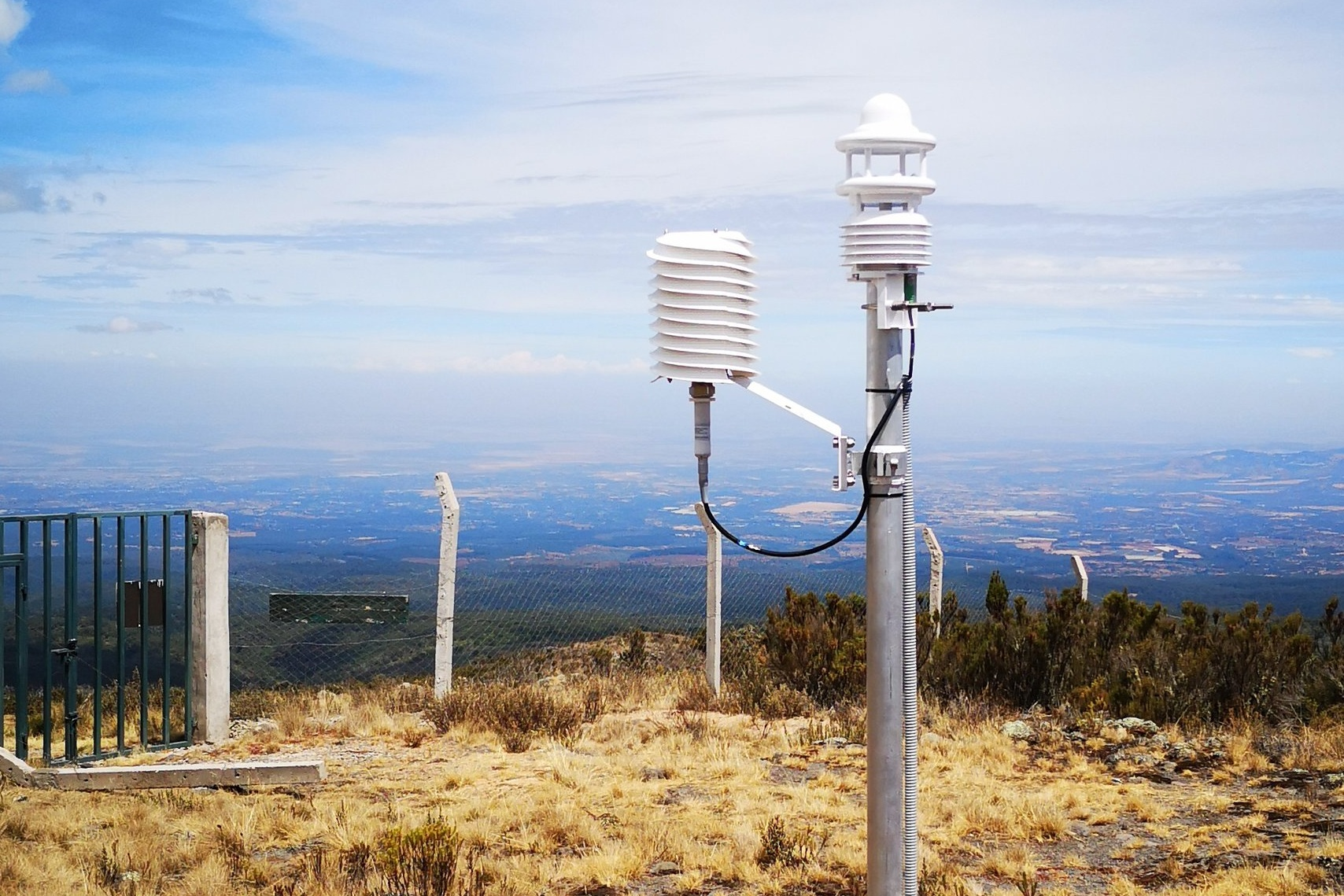Helical MeteoShield Professional on Mt. Kenya GAW station.