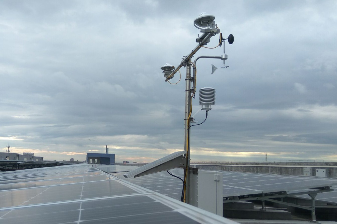 BARANI China solar PV power plant Weather Monitoring System WMS installation