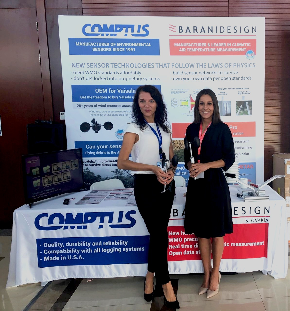 BARANI DESIGN Technologies team sharing a stand with  COMPTUS  of USA, a BARANI DESIGN distributor.