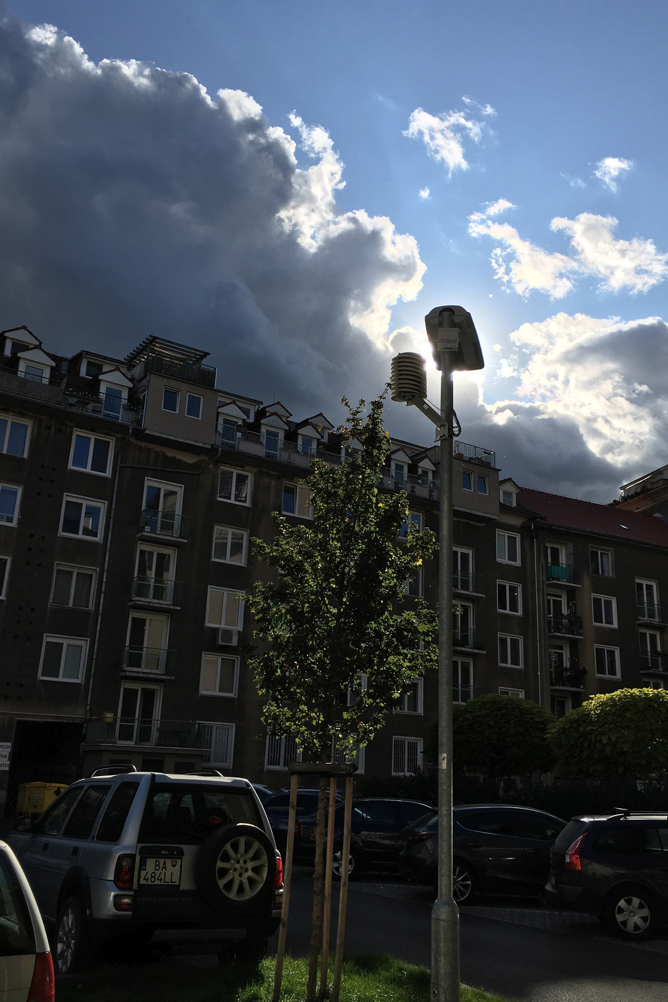 MeteoHelix IoT Pro weather station on smart street lighting