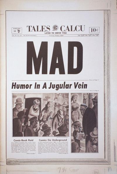 Гарві Курцман. Обкладинка журналу MAD #16, 1954