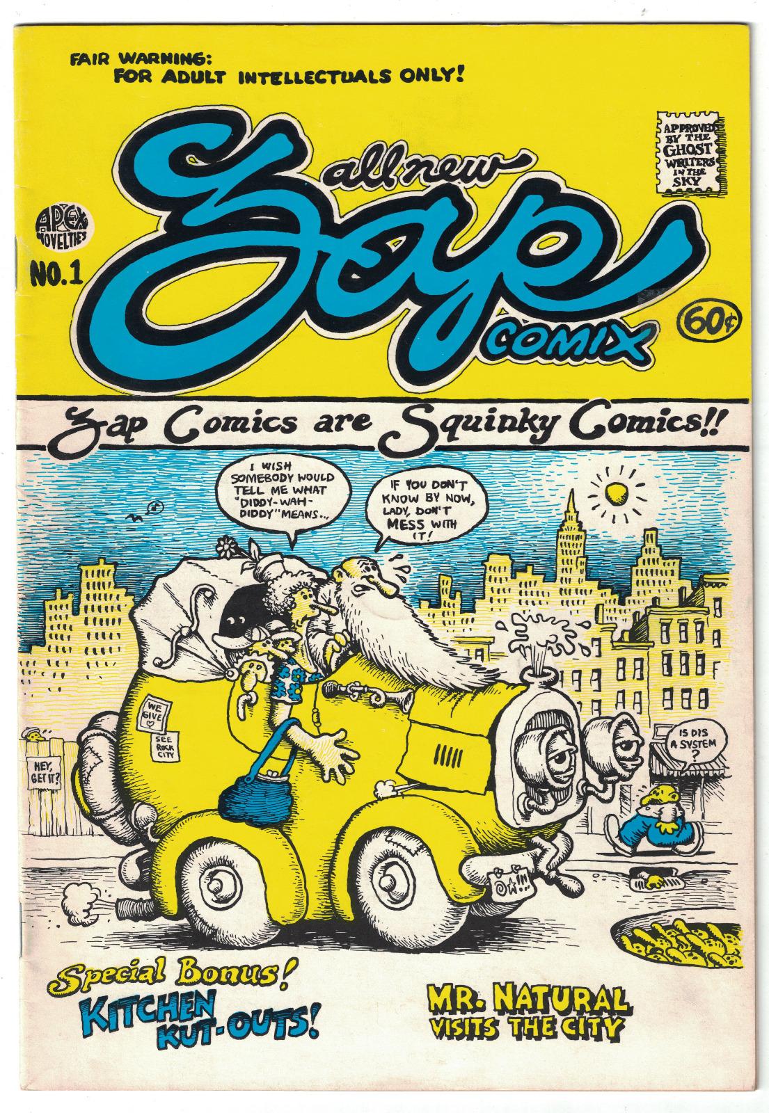 Роберт Крамб. Обкладинка журналу Zap #1, 1967