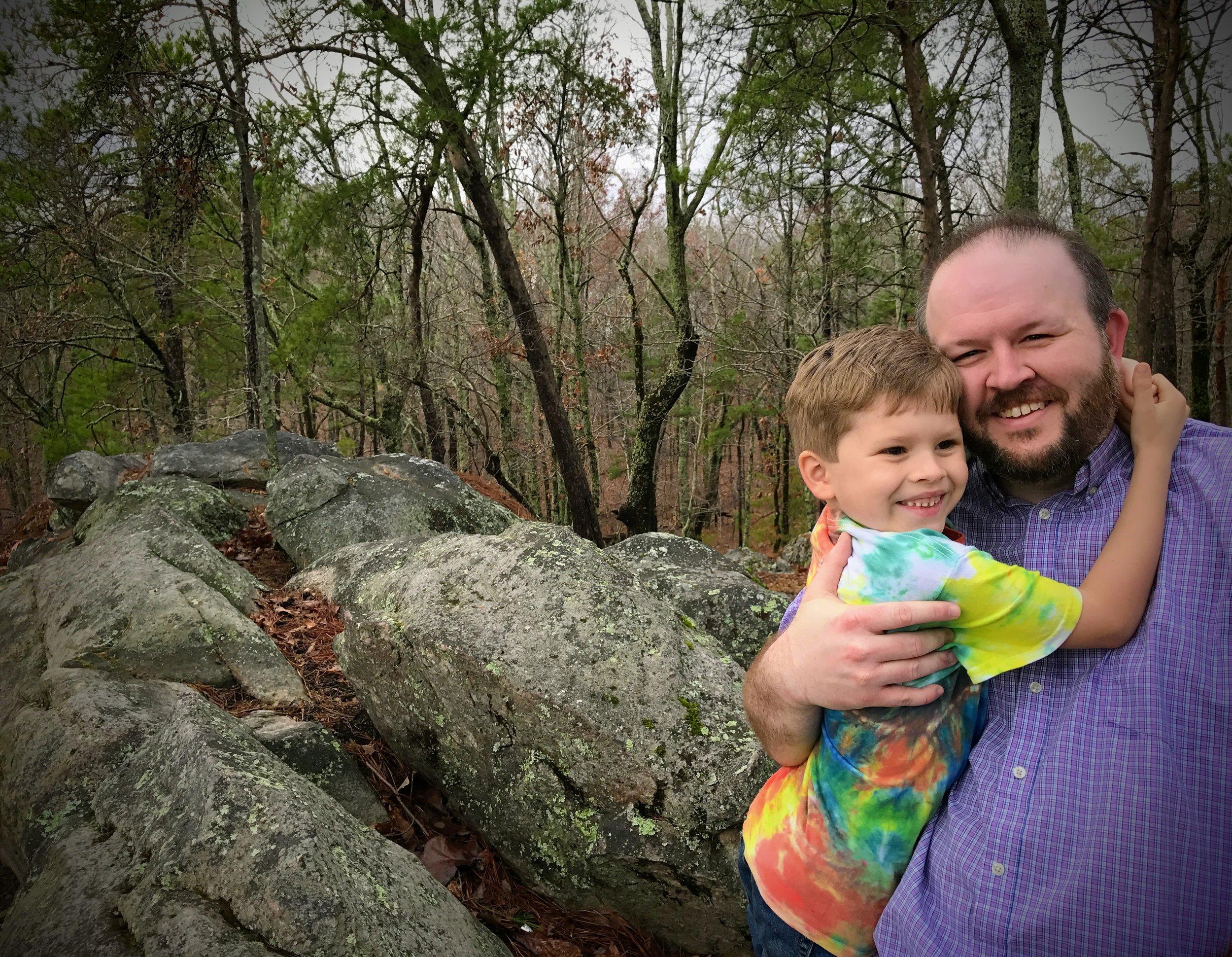 Oak Mountain hike on a balmy January day