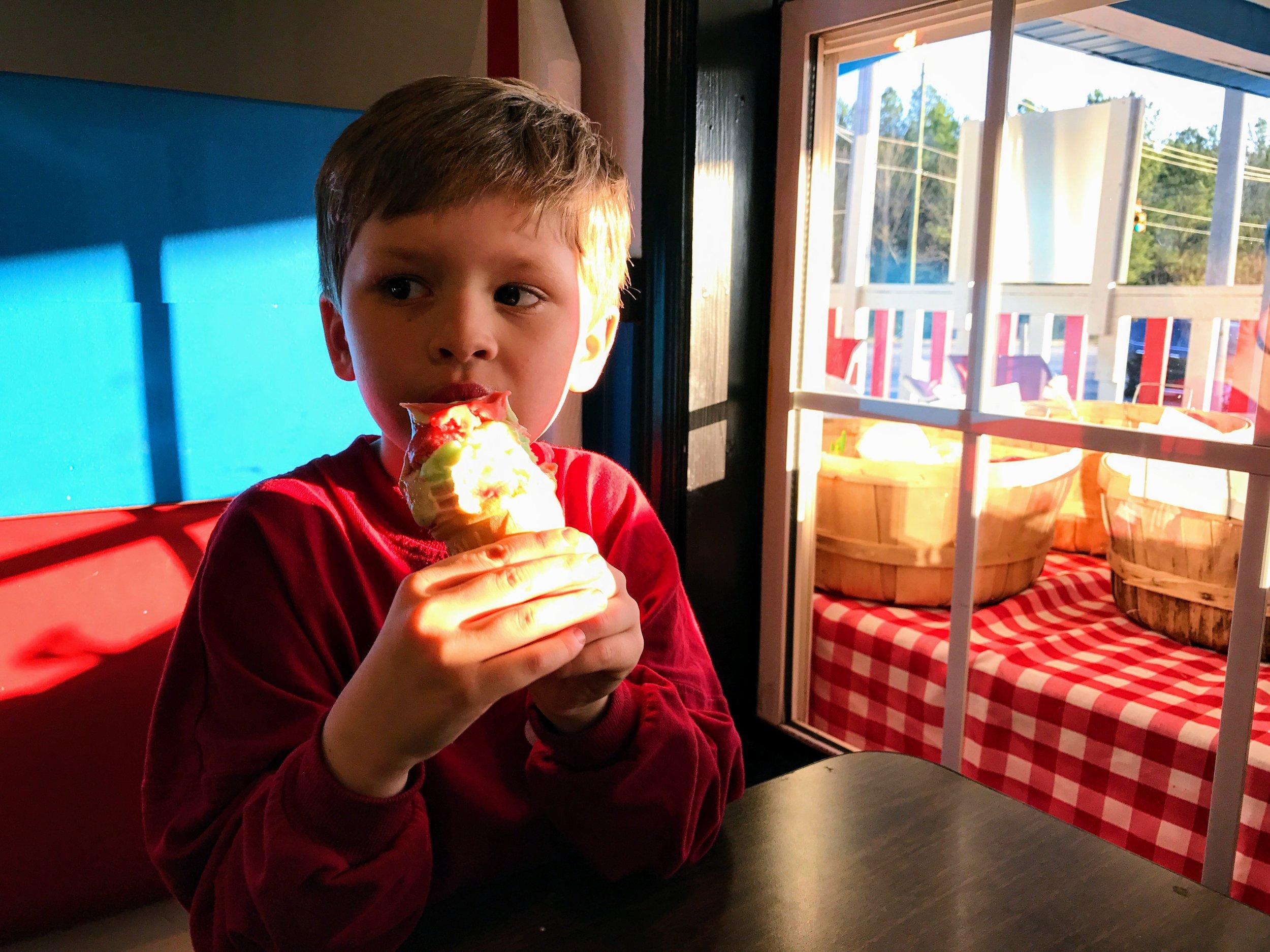 Friday ice cream dates at Ingram Farms