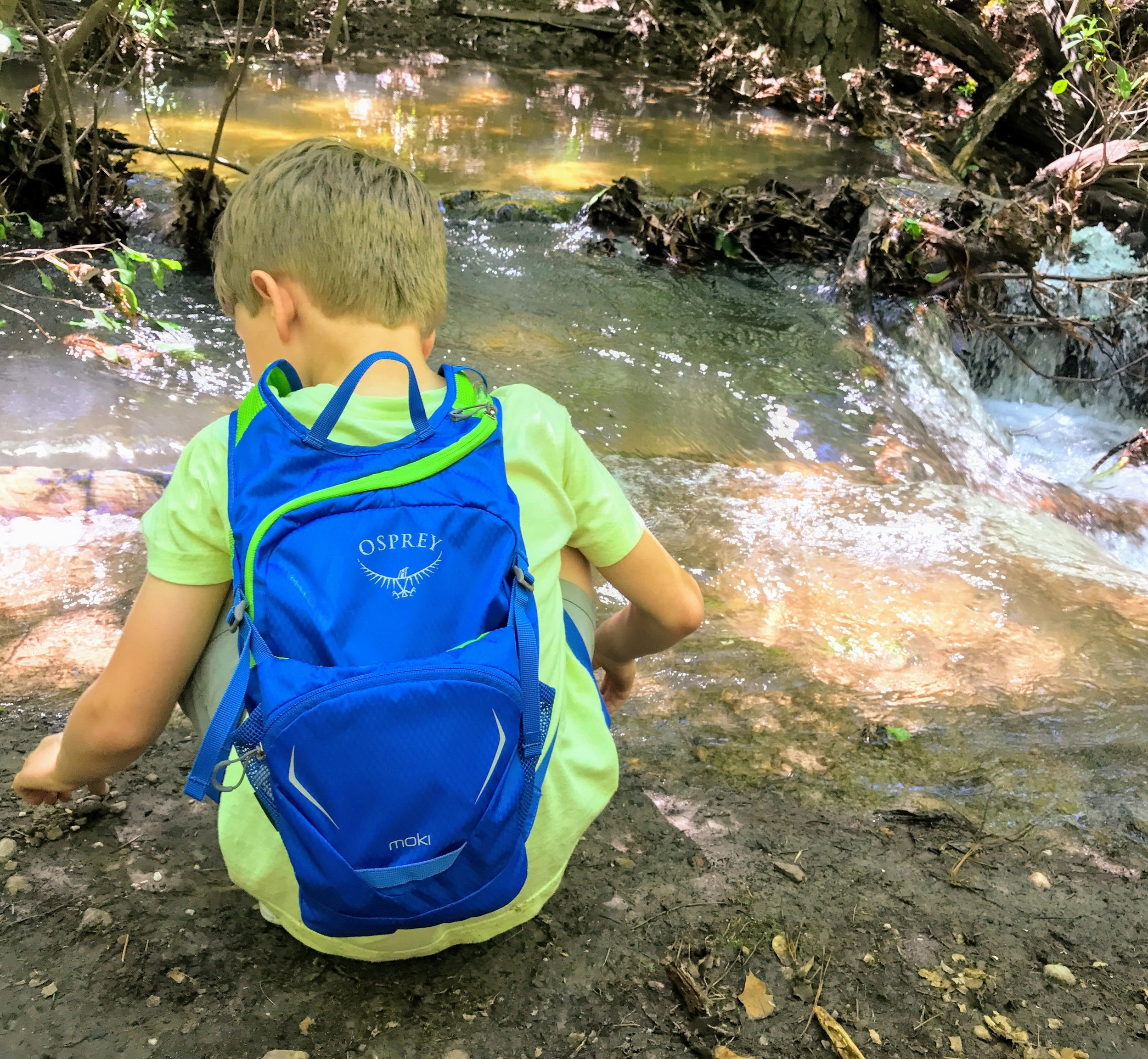 Testing out the Osprey hydration pack at Oak Mountain