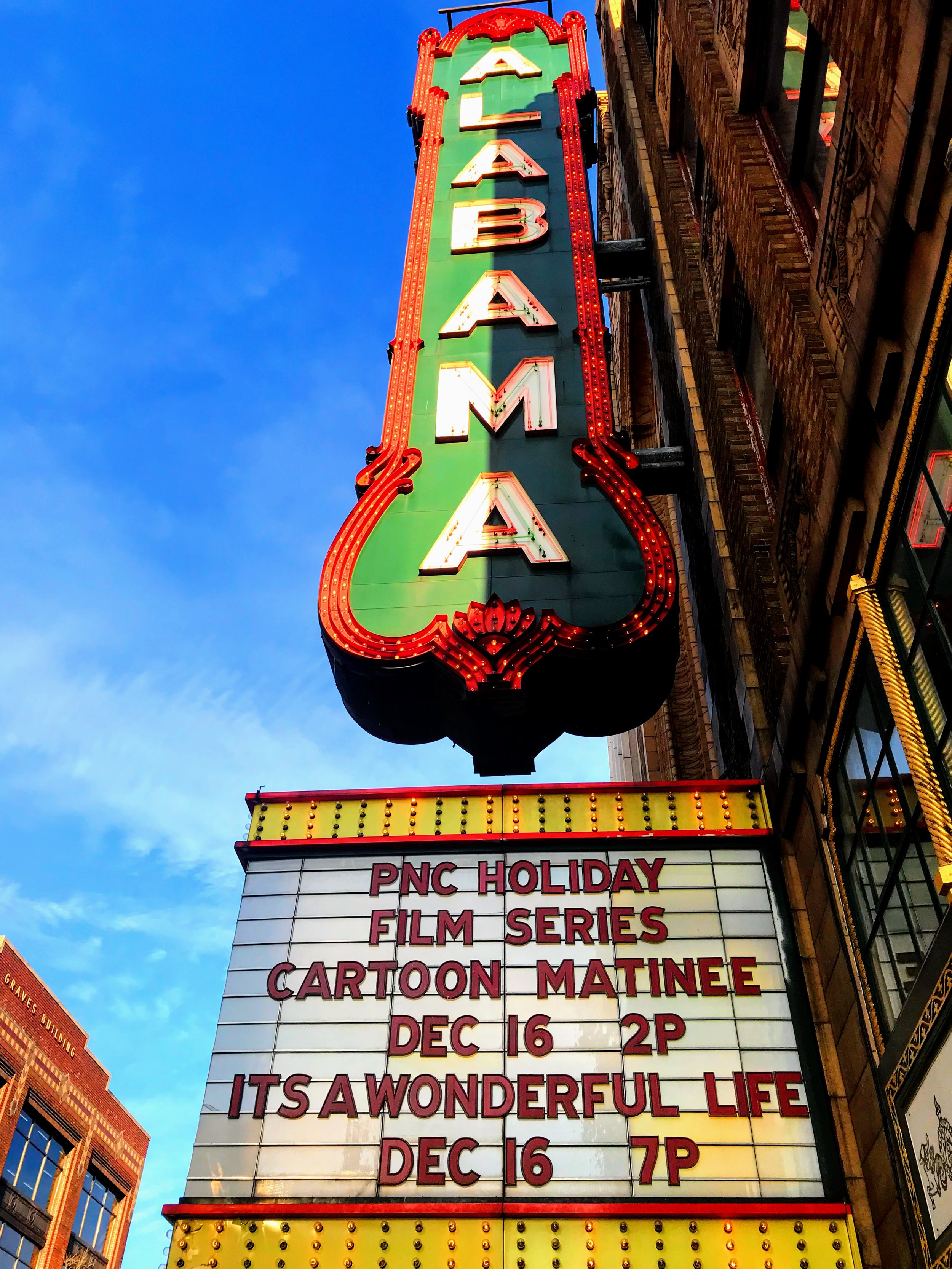 Holiday movies at the Alabama Theatre