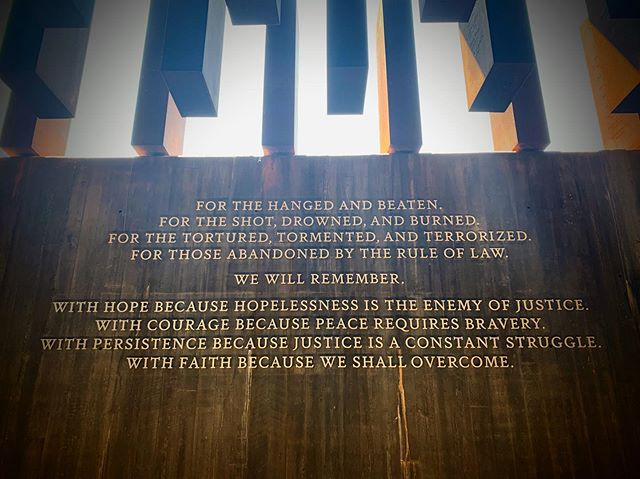 Hope. Courage. Persistence. Faith. And willingness to confront our history and use our knowledge for good.