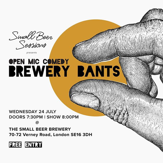 Our legendary comedy night returns in ONE WEEK! Join us for a big laugh over a Small Beer next Wednesday to kick off our new season of Brewery Bants hosted by @suziepreece