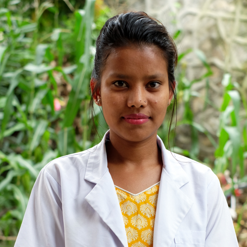 Kusam Bista   Nurse   Kusum was born in most remote part of Nepal. As her father was an government officer she was moved to Kathmandu and started her further education. She joined NHEDF as a volunteer for 6 months and started working as a permanent staff nurse.