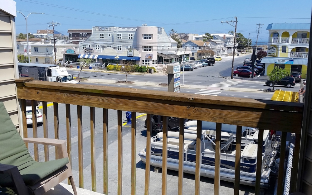You can see the ocean from one of the private balconies. It's just one block away from the ocean.