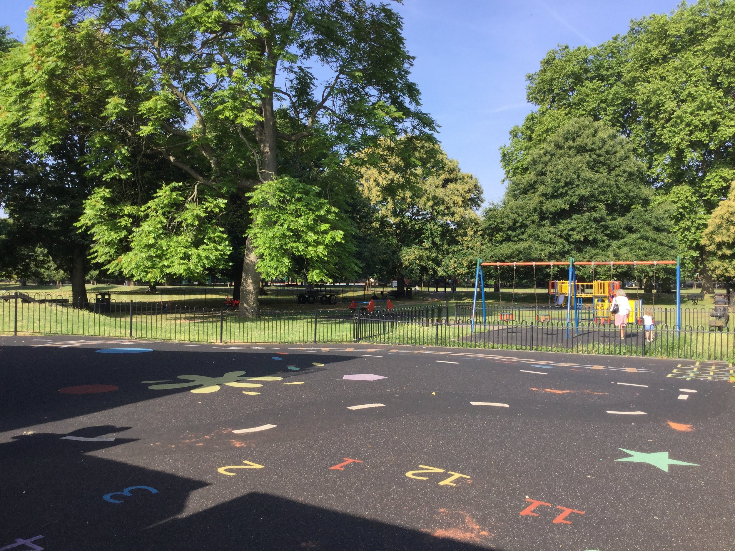 We're lucky to have a great outside place that the children enjoy playing in.
