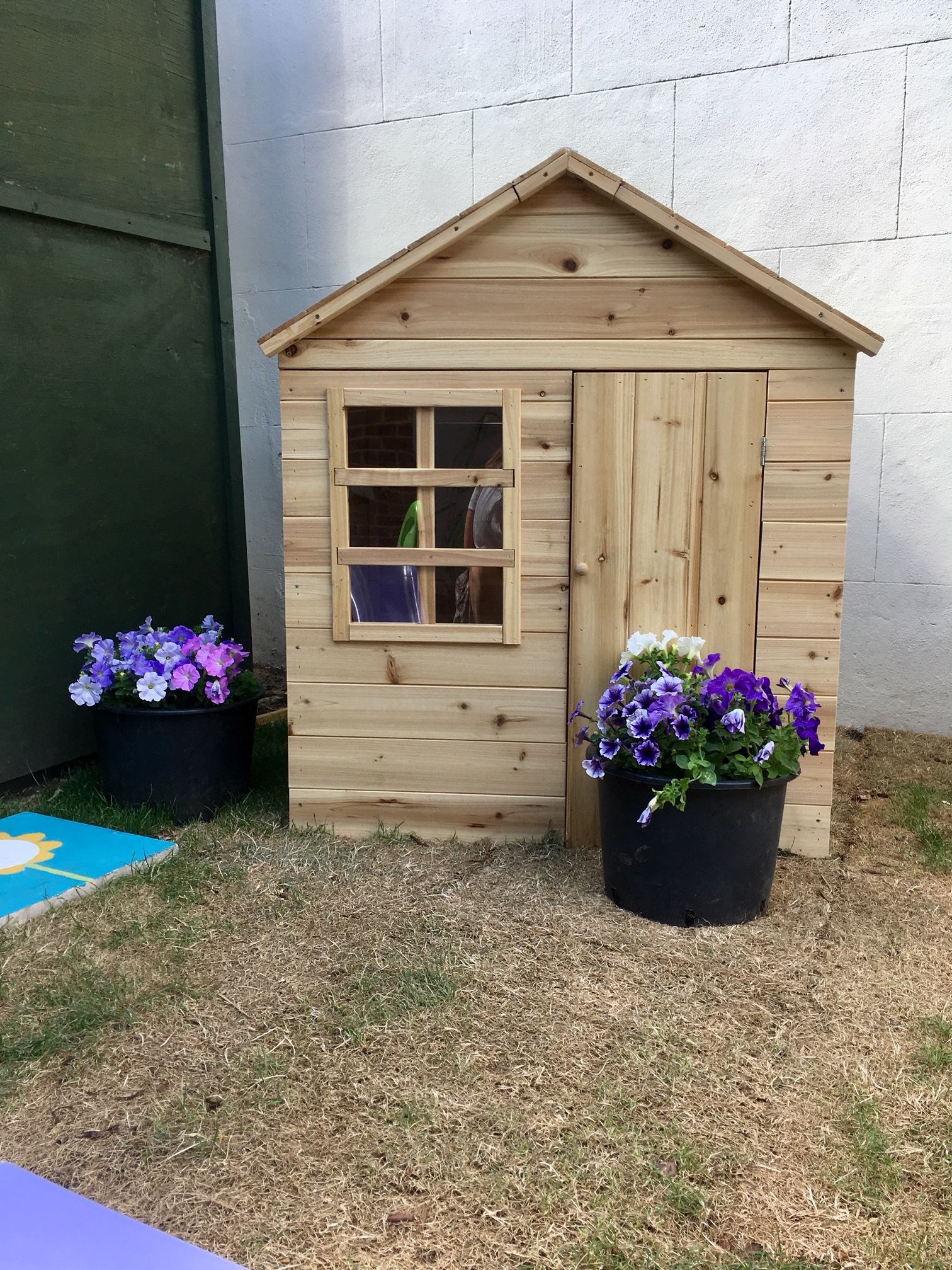 Our wendy house is always popular!