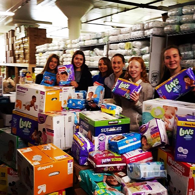 "@wcastl astounded us again with a huge donation of diapers, training pants and wipes collected during their ""In The Spirit of Giving"" week! This is the 3rd year in a row we have benefited from their amazing generosity! Many thanks to all the WCA families, students, faculty and staff who donated. You're helping us change lives - one diaper at a time!!"