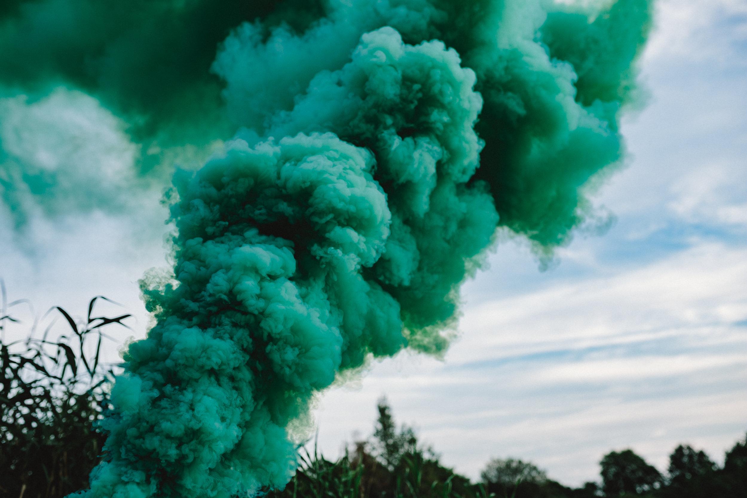 kaboompics_Green smoke bomb.jpg