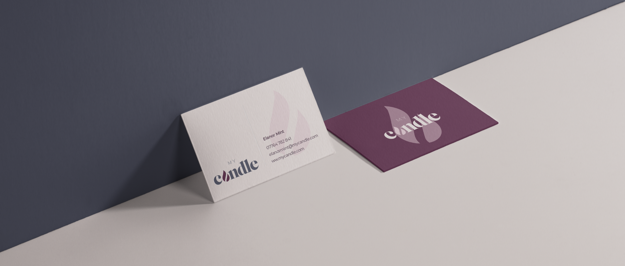 MyCandle Business Card Design London Agency