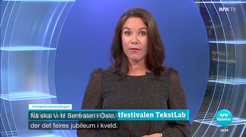 NRK - Åpning av TekstLabs jubileumsfestival (18.10.2018)