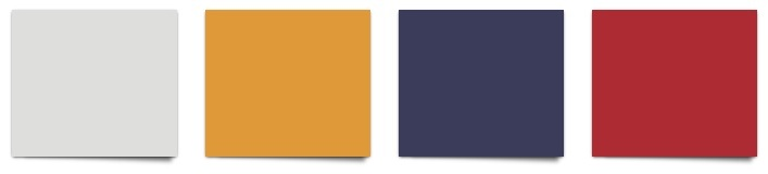 Sherwin Williams paint colors Nebulous White, Gold Crest, Majestic Purple, Positive Rd
