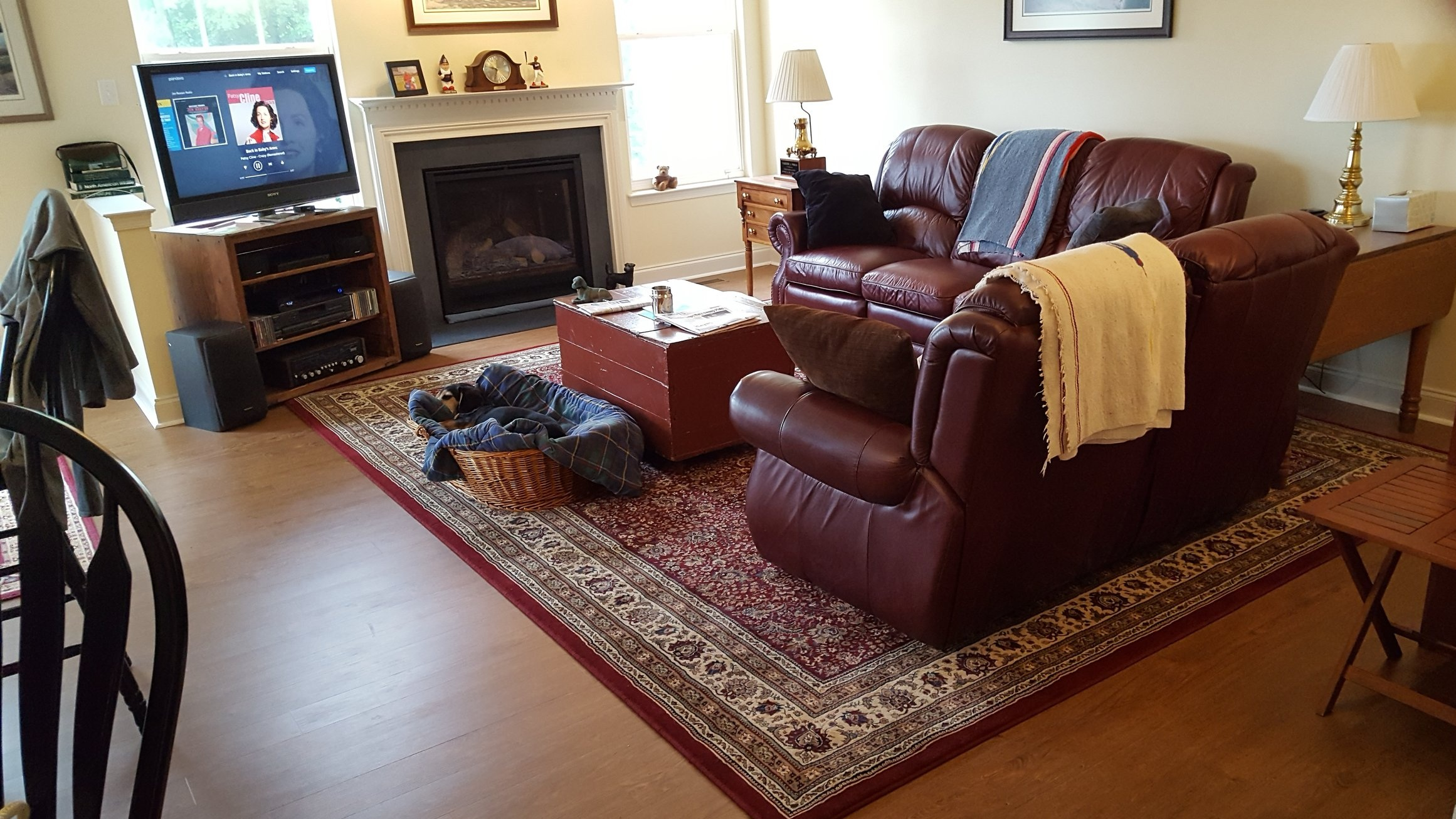 Tom and Mary's living room after the installation of the new flooring I helped them choose. .