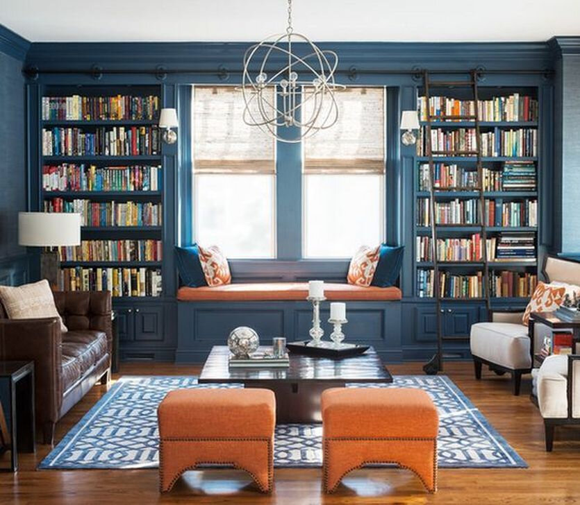 empty nest home library