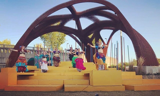 Tula Tribe loved opening for the performance of Nashville Shakespeare Festival's performance of The Tempest. 🎭  This impressive multi-leveled stage gave our troupe not only a fun challenge to overcome, but a chance to bond even more. ...And a chance to celebrate afterwards when no one fell off! 💃🏻 . . . #onecity #nashvilleshakespearefestival #thetempest #tulatribe #ATS #dance #dancers #ATSdance #dancelife #dancesisters #sisterhood #fatchancebellydance #tribaldance #wildhearts #gypsy #gypsies #tribalstyle #bohemian #tribe #bellydance #atsdance #tribelove #americantribalstyle #americantribalstylebellydance #freespirits #tribal #nashville #nashvillearts #nashvilleactivities #nashvilleentertainment #thingstoseeinnashville