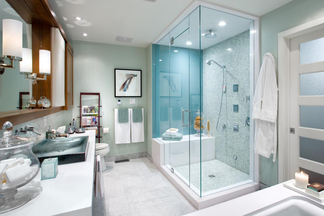 BATH - • Shower Doors• Toilet Installation• Mirror Installation• Cabinet Installation* Lighting and Plumbing fixtures