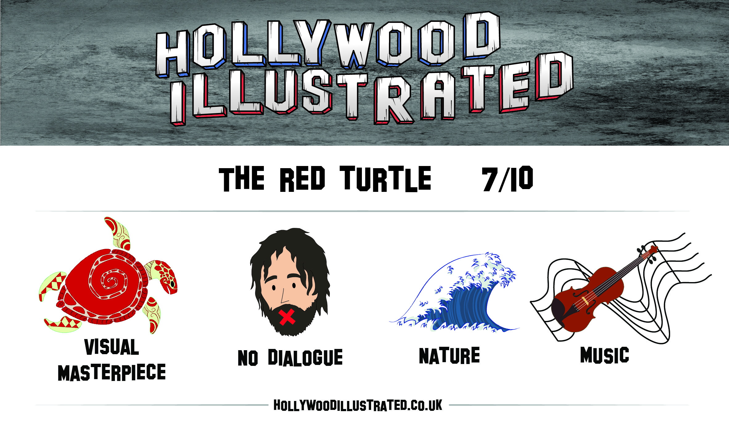 The Red Turtle Hollywood Illustrated