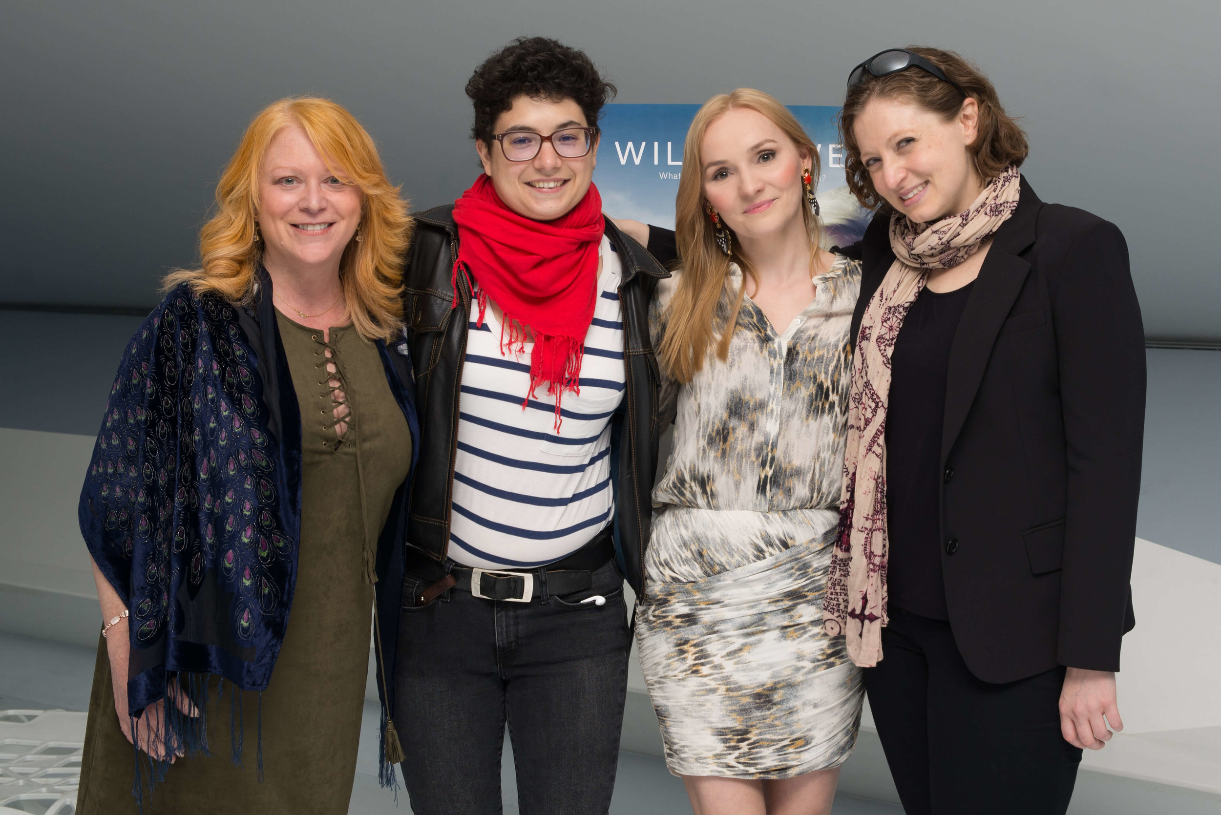 All-female creative team: director Celine Rosenthal, writer Susan Cameron, producer and lead actress Kristi Roosmaa and director of photography Charlotte Dupré.