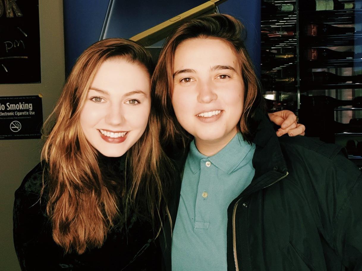 Emory and Natalia at Katra Film Series.