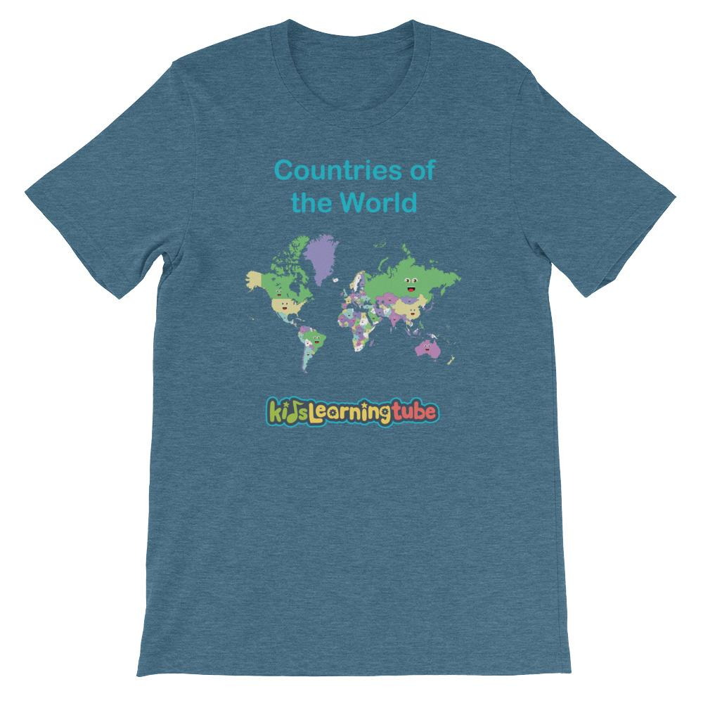 'Countries of the World' Adult Unisex Short Sleeve T-Shirt  $28.00