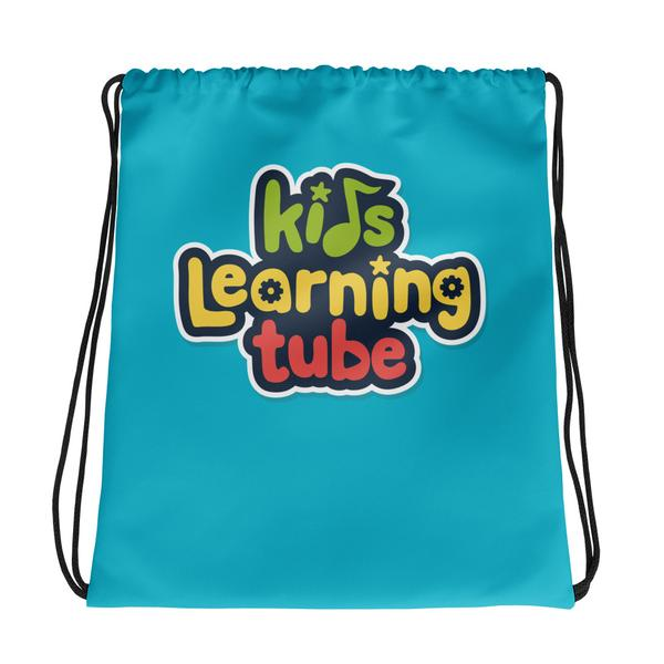 NEW!  Kids Learning Tube Logo Drawstring Bag (Teal)  $22.00