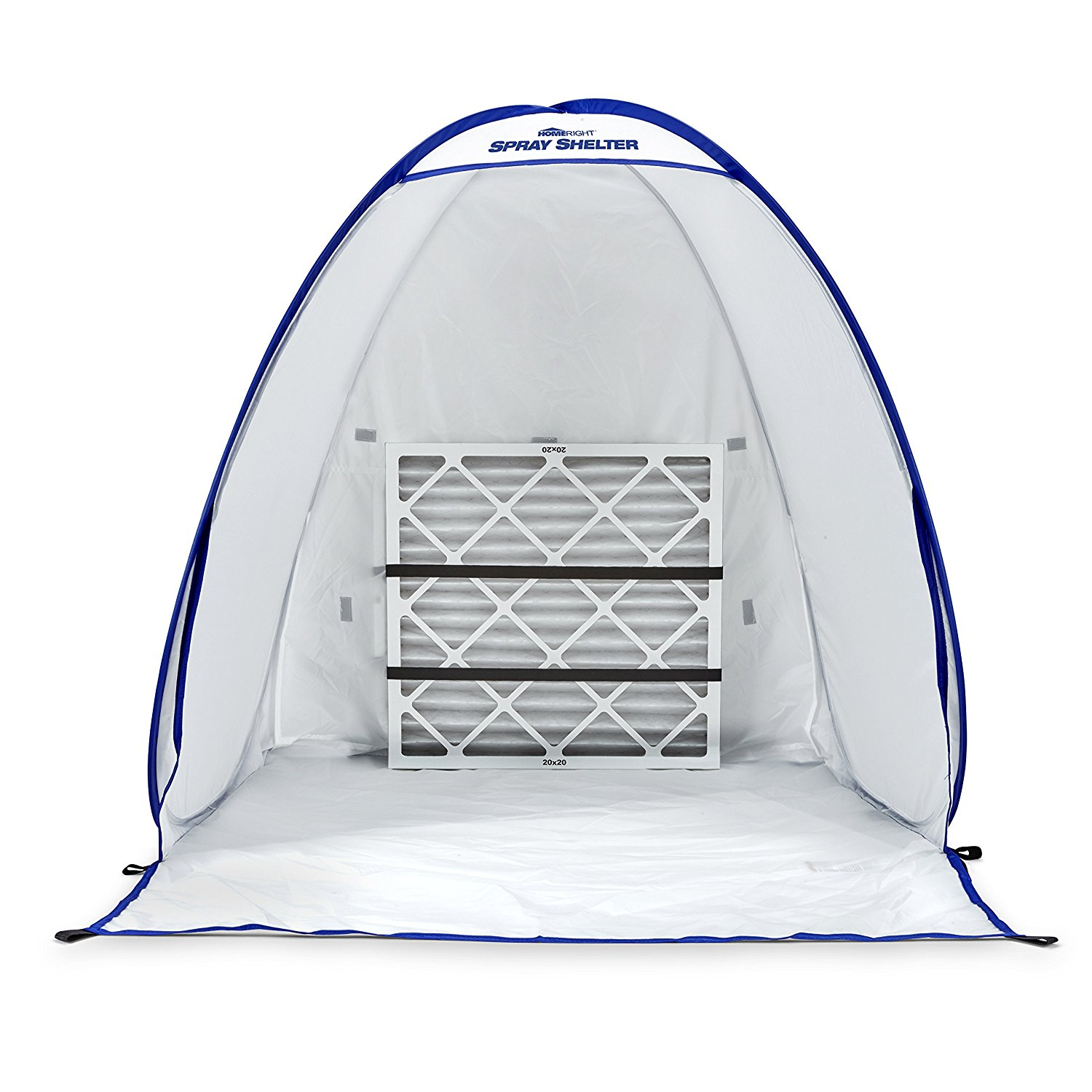 Small Spray Shelter with Straps - The home Right Spray Shelter Air Flow provides the perfect area to spray paint or stain on a variety of small to medium sized do-it-yourself projects. The spray shelter has dimensions of 35