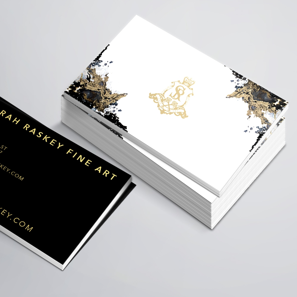 Sarah Raskey Fine Art Business Card Design