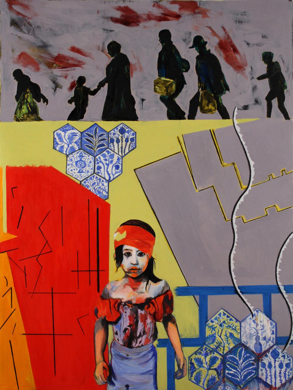 "Journey,  2015, oil paint on linen, 40"" x 30"""
